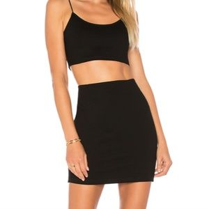 by the way Alayna Mini Skirt Top Set Medium Black